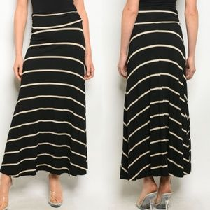 NEW Briana Striped Maxi Skirt